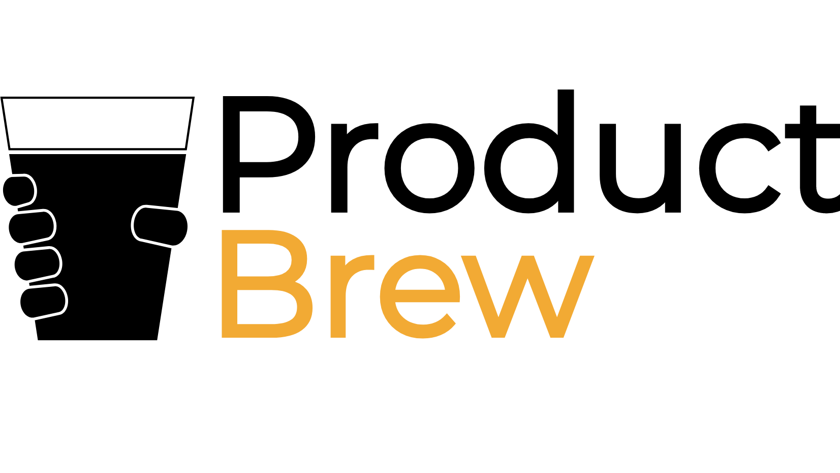 Product Brew Logo - Hand Holding Beer Cup
